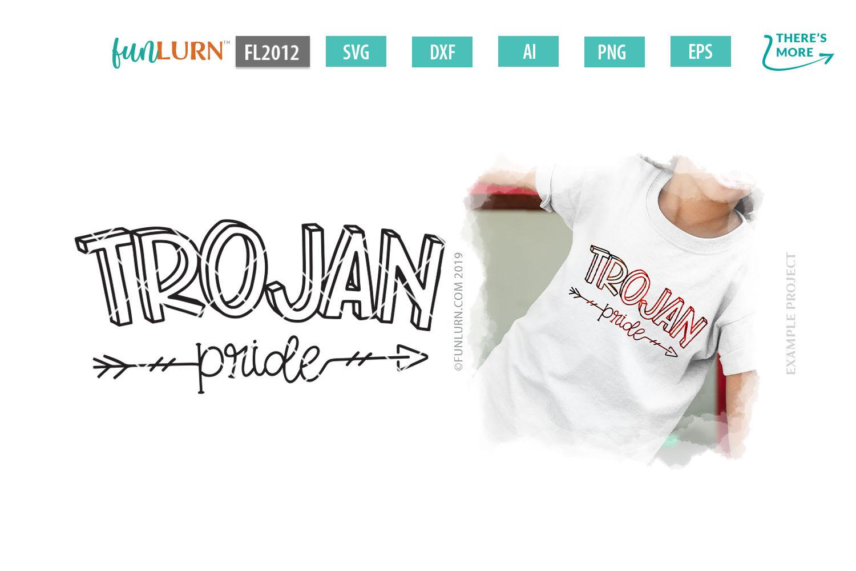 Trojan Pride Team SVG Cut File example image 1