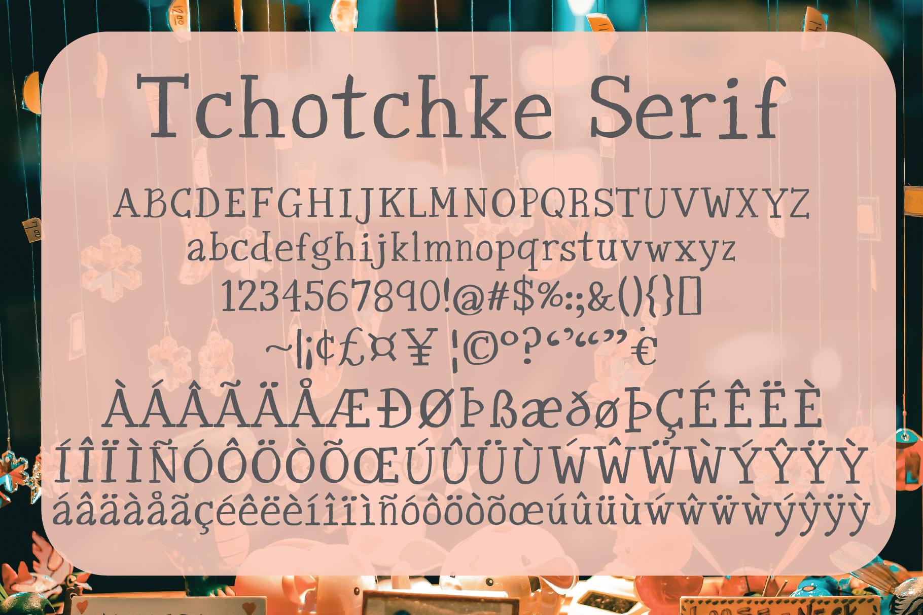 Tchotchke Serif example image 2