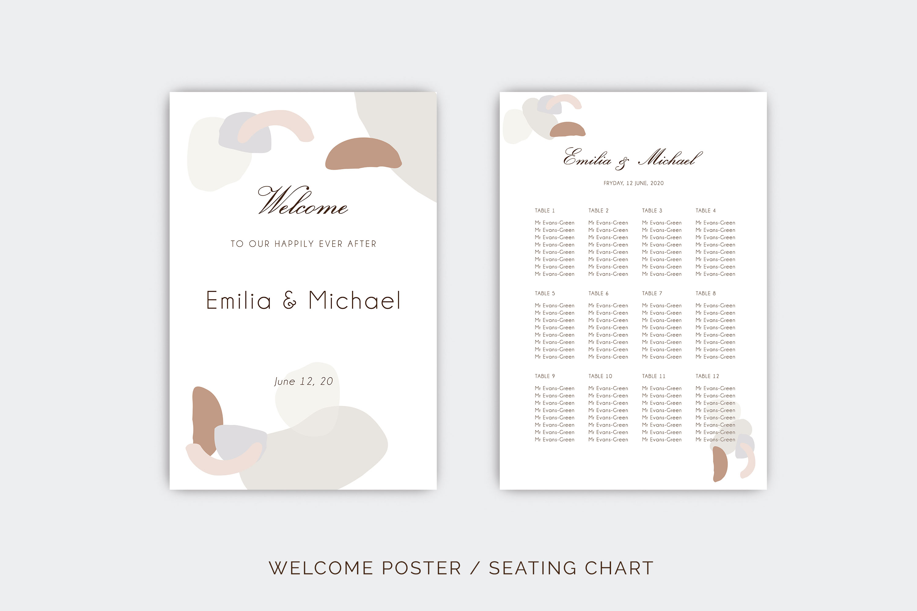 Abstract style Wedding Invitation Suite example image 9
