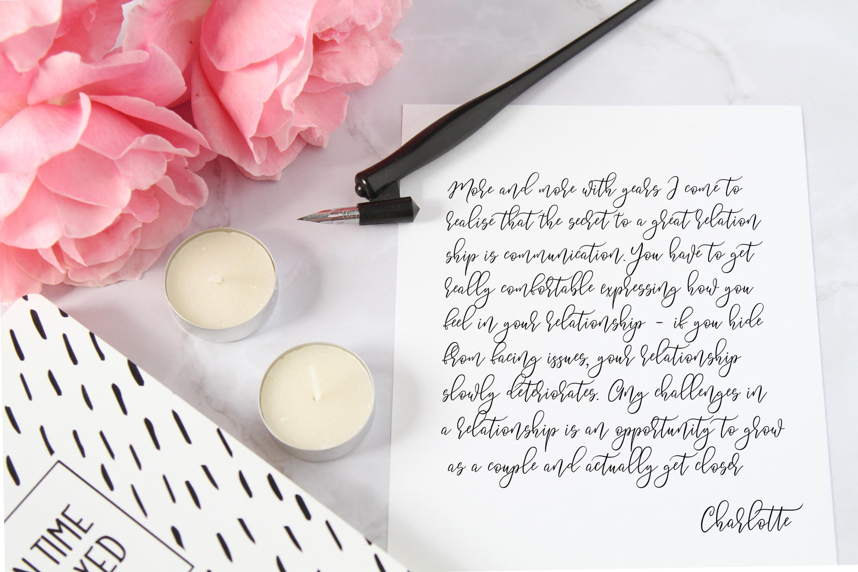 Summery Handwritten Calligraphy Font example image 8