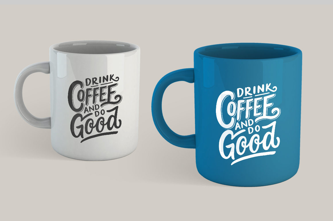Set of Hand Lettering Coffee Quotes - SVG Cut File Bundle example image 2