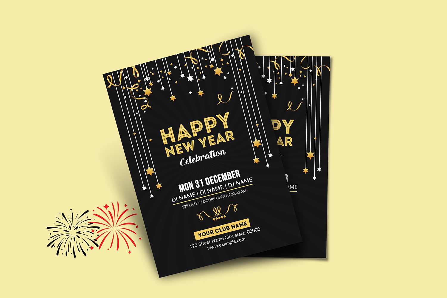 New Year Party Flyer example image 4