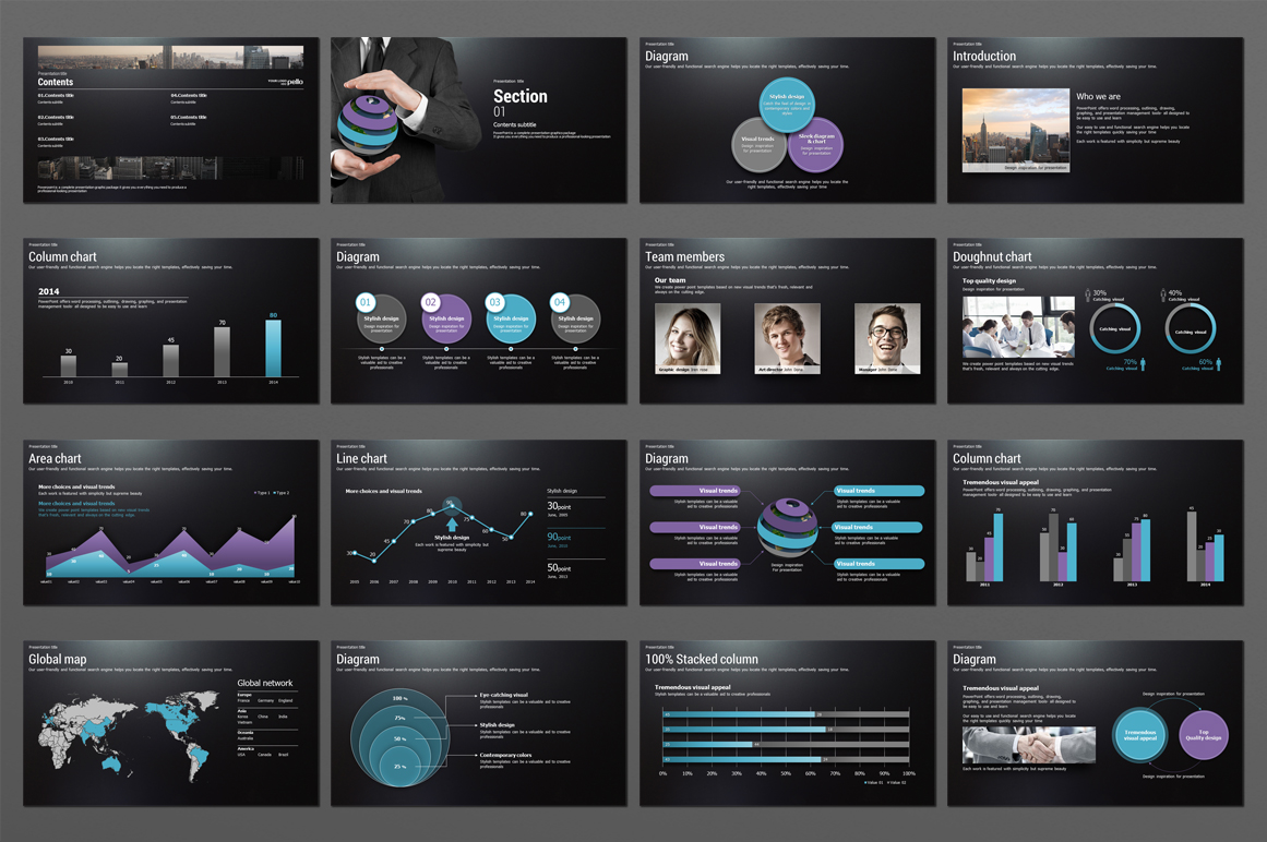 Global Business PowerPoint Template  example image 2