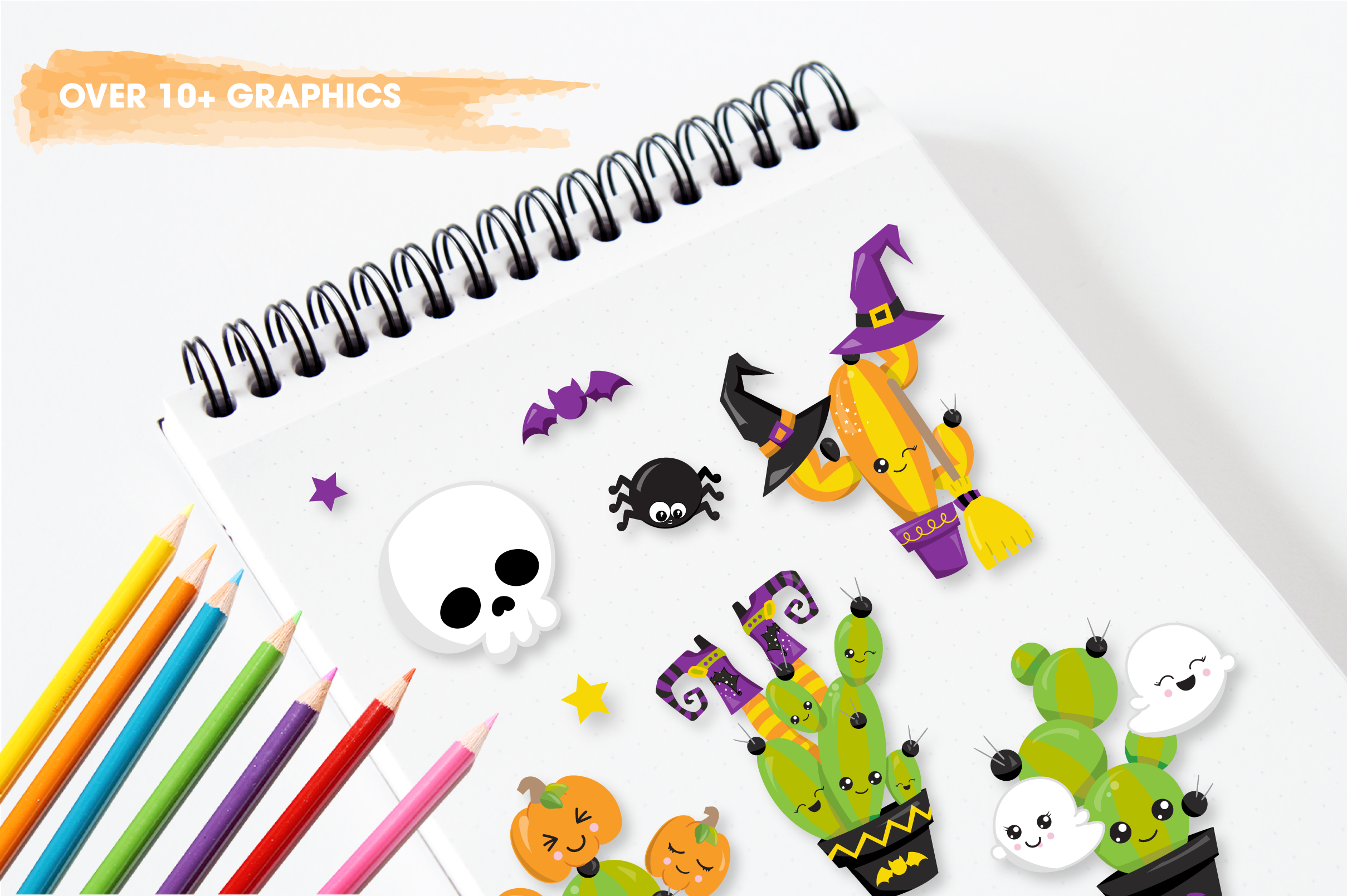 Halloween cactus graphics and illustrations example image 3