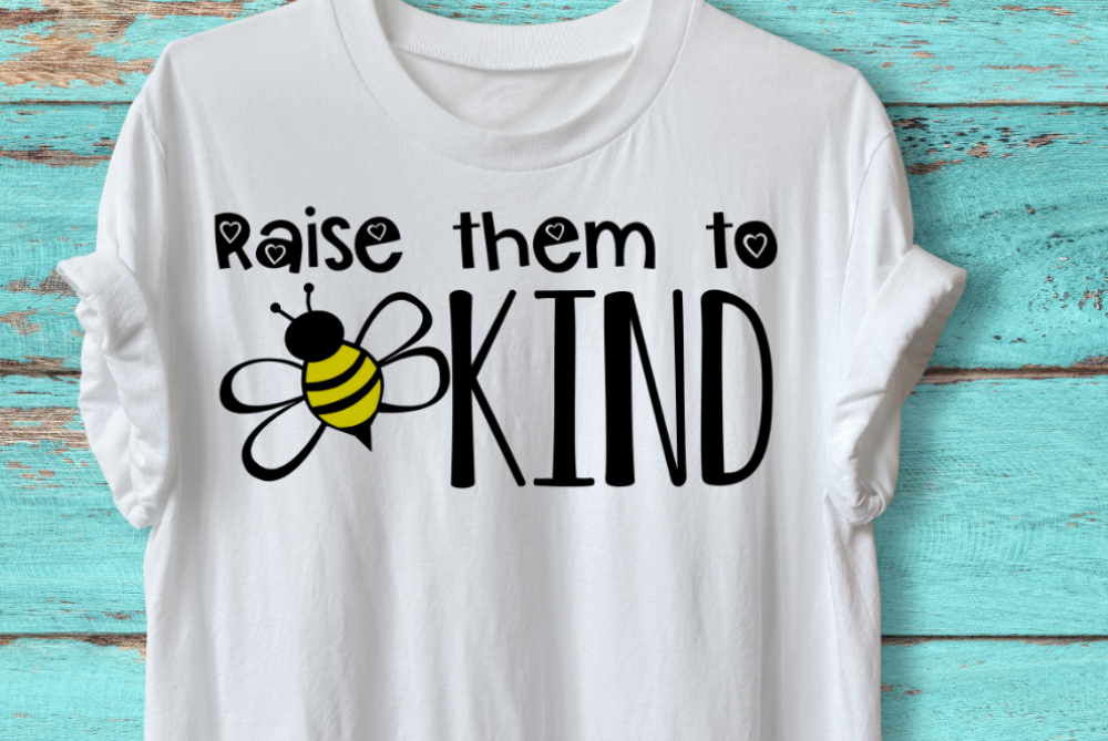 Raise Them To Bee Kind svg, bee shirt svg, be kind shirt svg example image 2