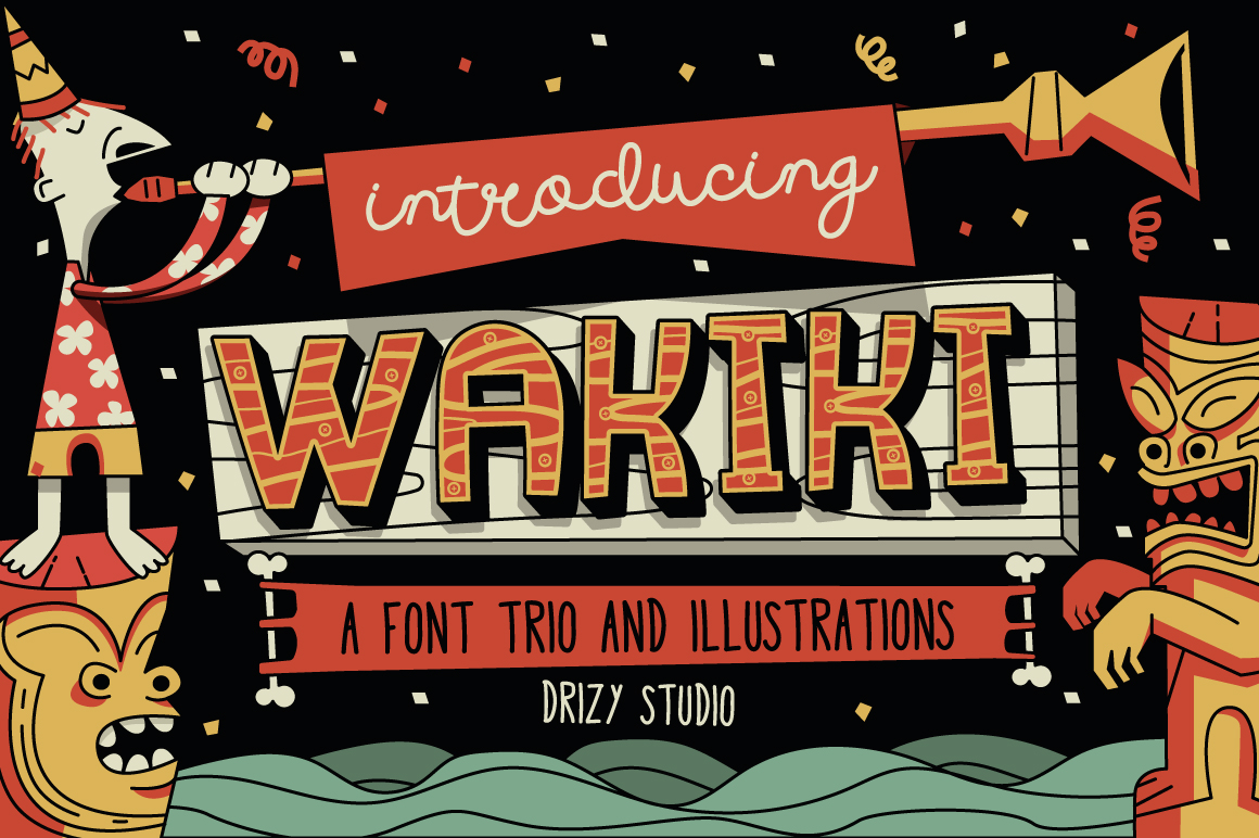 Wakiki Layered Typeface + Bonus example image 1