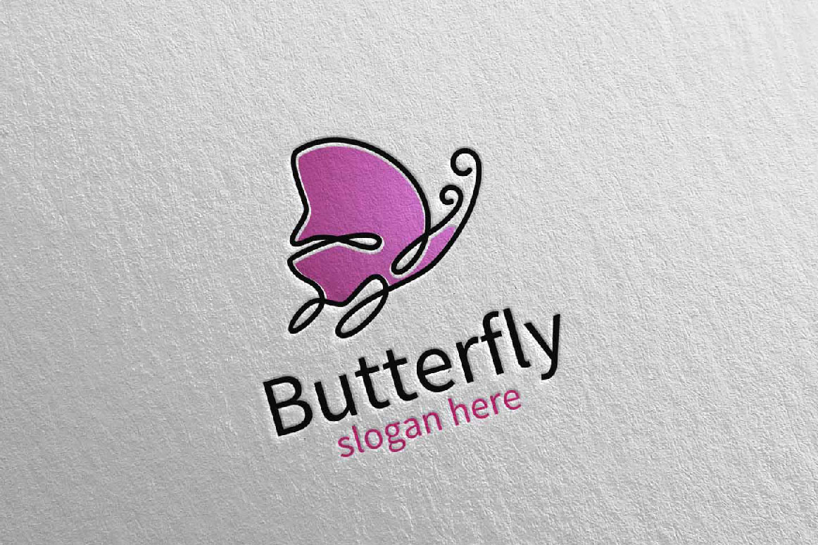 Butterfly Logo vol 17 example image 4