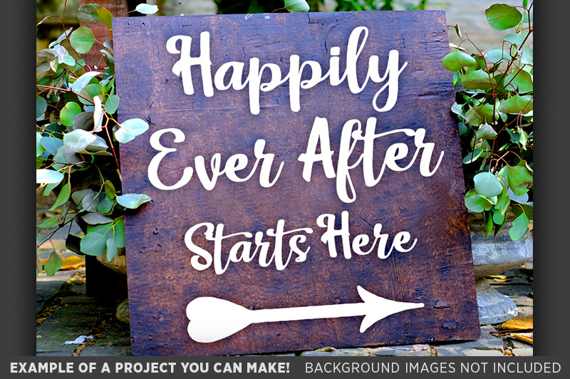Happily Ever After Starts Here SVG File Wedding Sign - 5520 example image 3