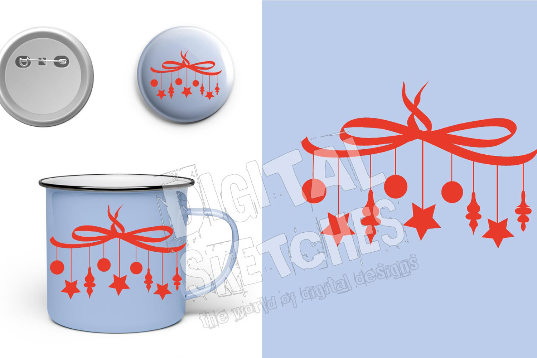 Christmas Stars Cut File Vector Graphics Illustration example image 2