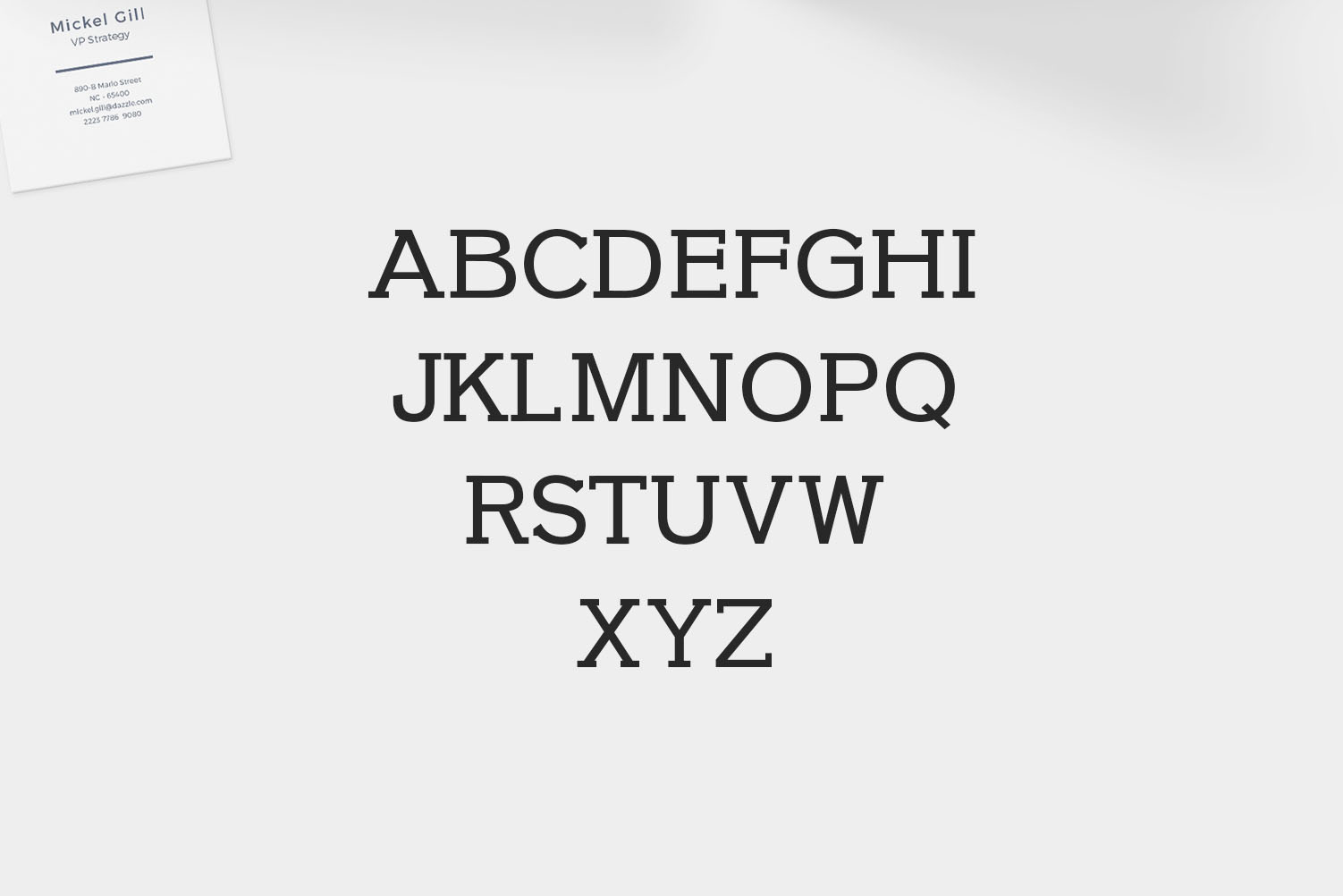 Farhan Slab Serif 5 Font Pack example image 2