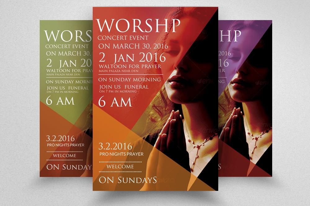 Worship Church Flyer example image 1