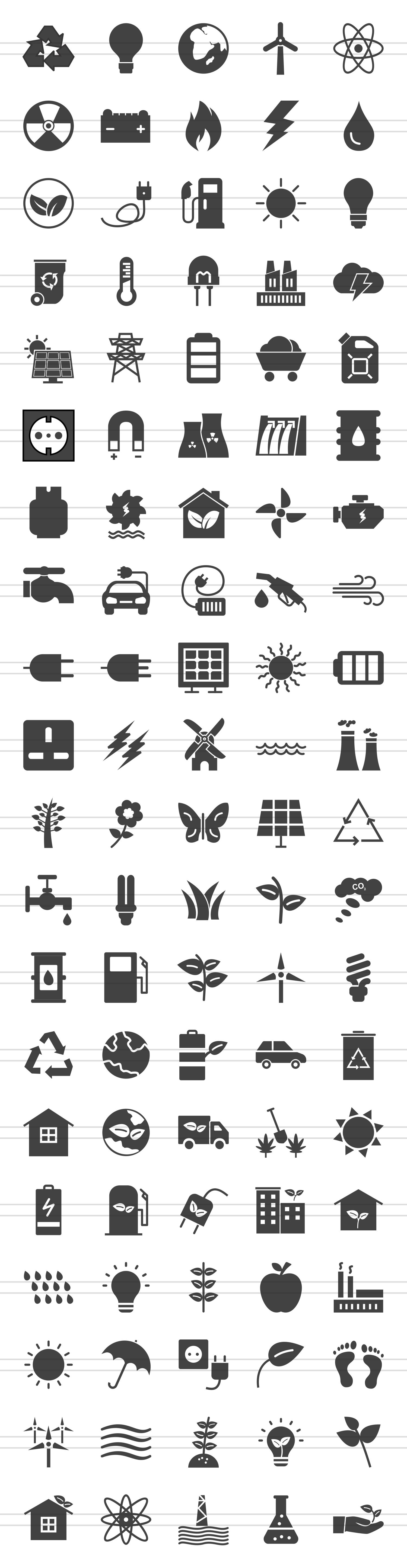 100 Energy Glyph Icons example image 2