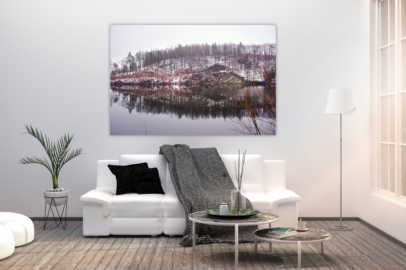 Nature photo, landscape photo, lake photo, winter photo example image 3