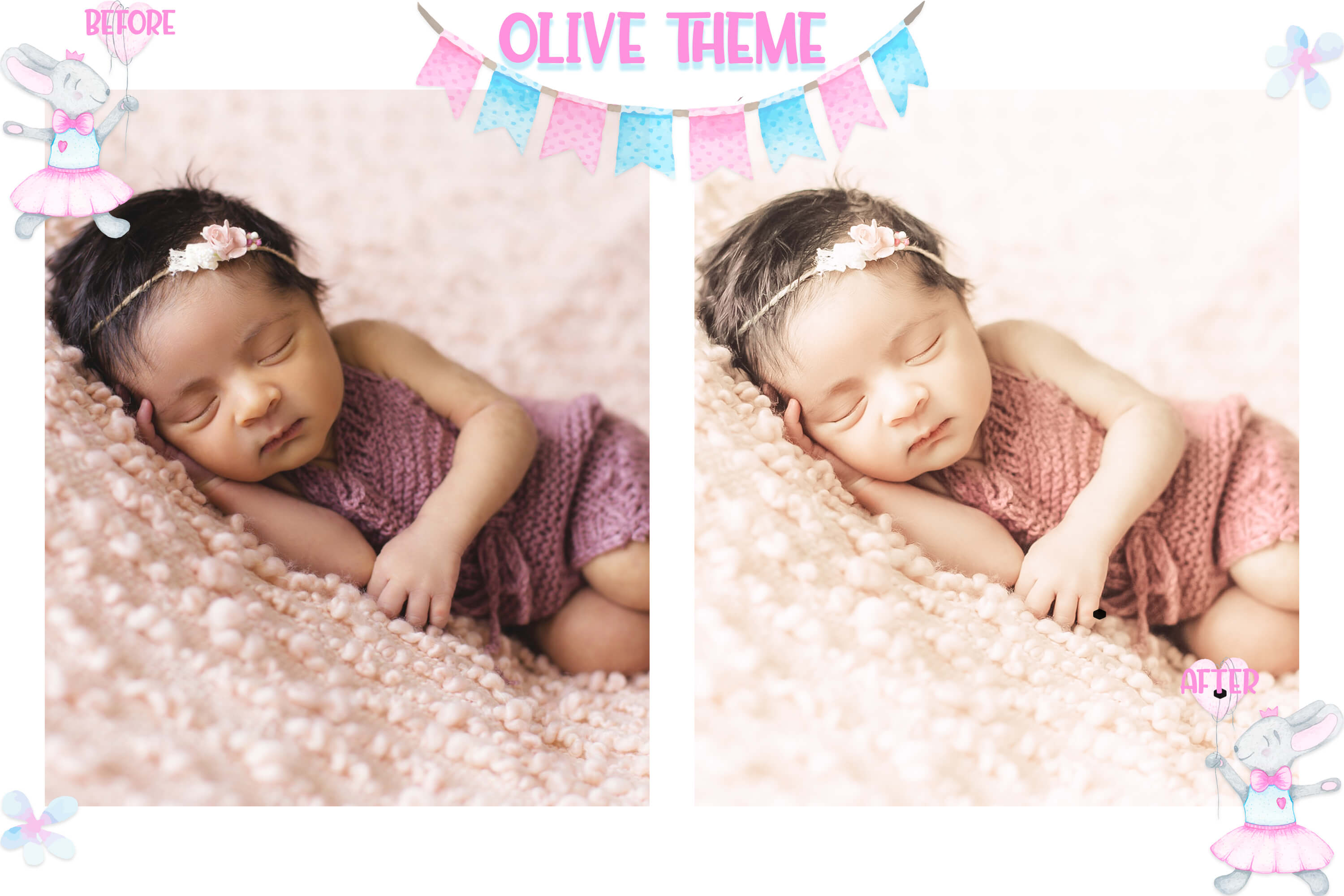 10 Newborn Mobile & Desktop Lightroom Presets, baby skin LR example image 2