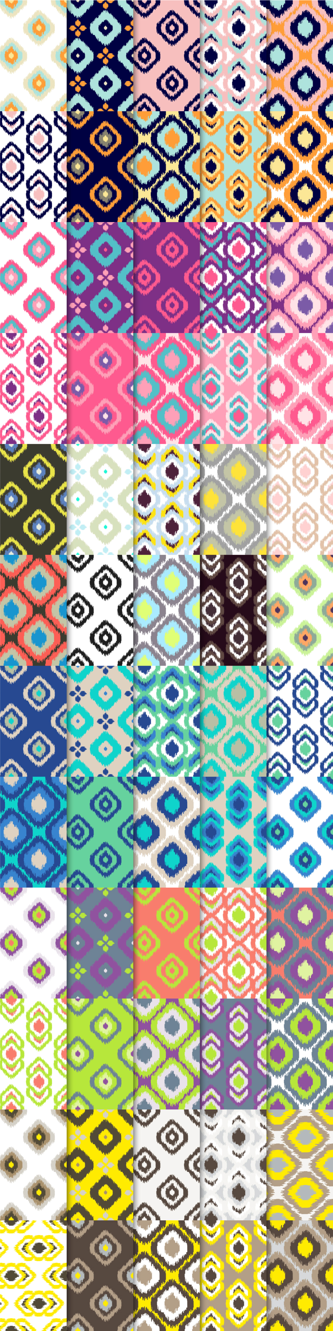 60 Ikat Seamless Vector Patterns example image 2