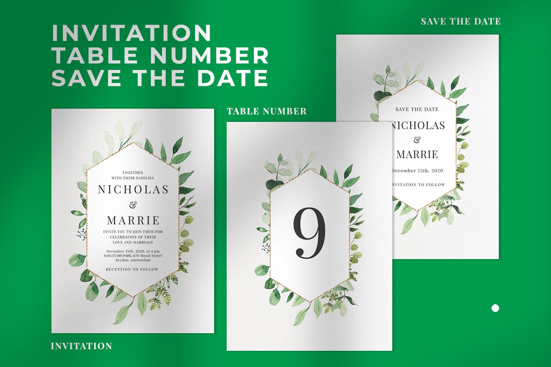 Green Foliage Wedding Suite example image 2