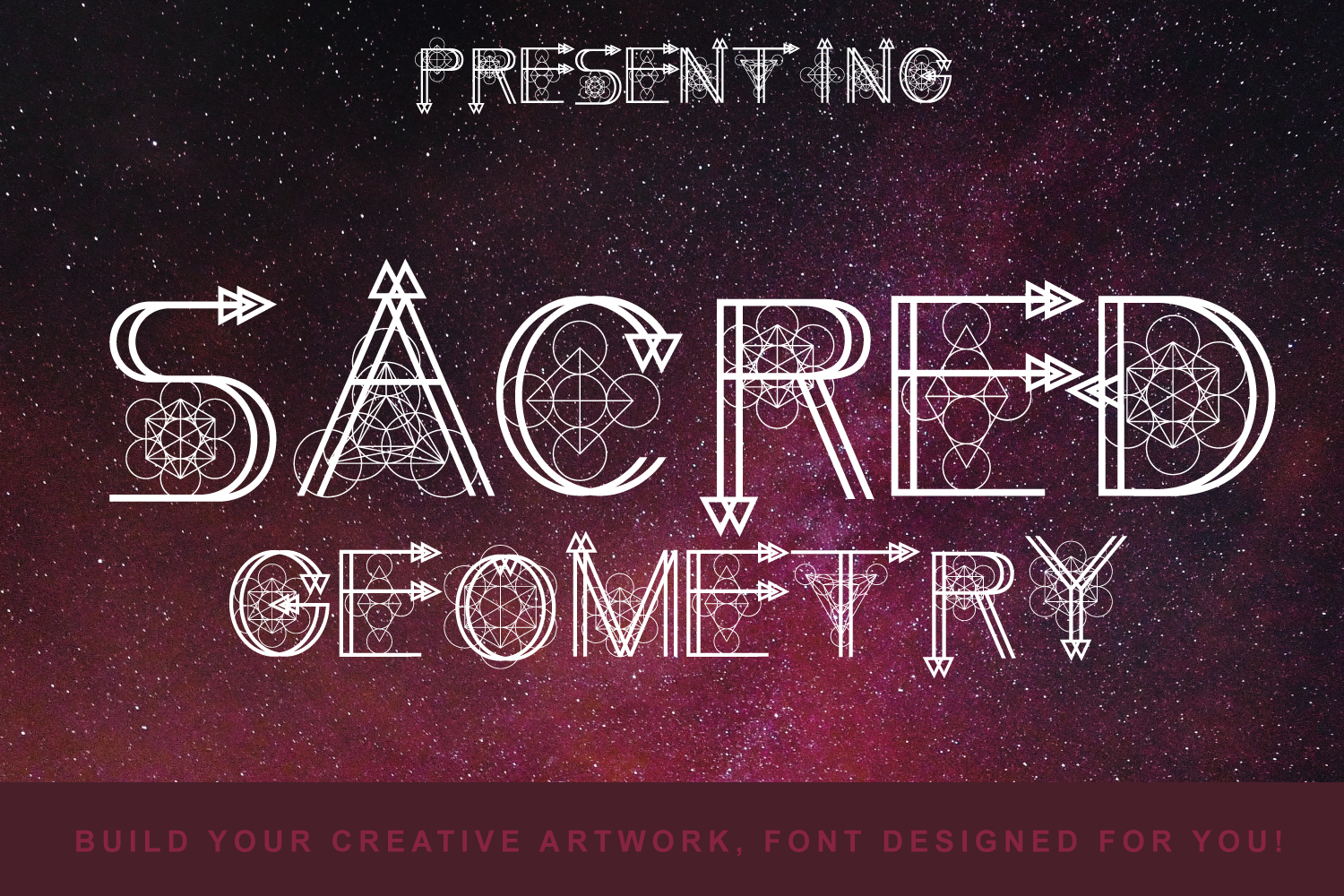 Sacred Geometry Font example image 1