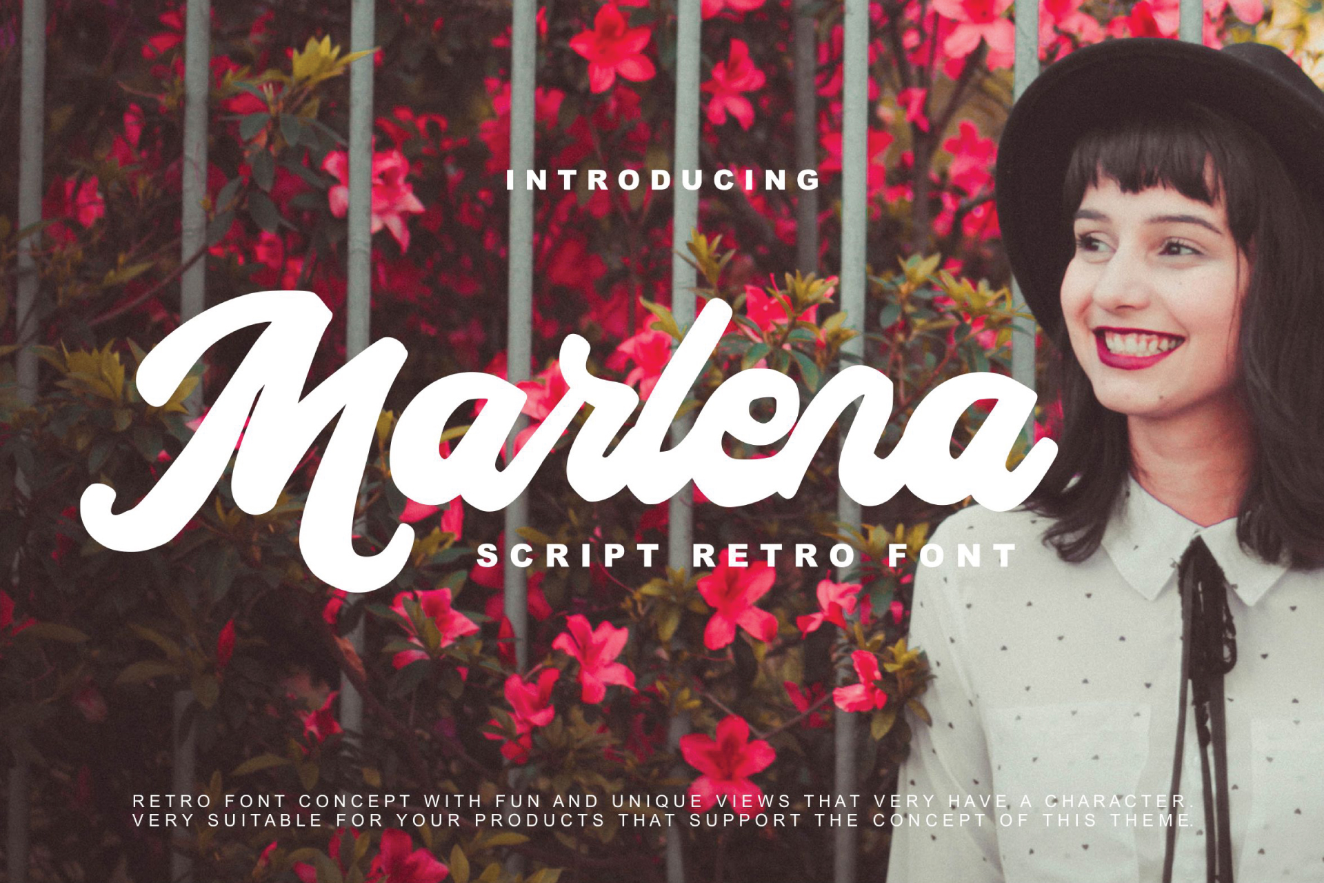 Marlena - Script Retro Font example image 1