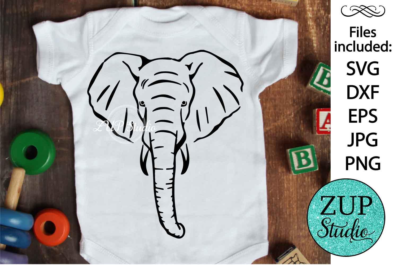 Elephant Face svg design 470 example image 1