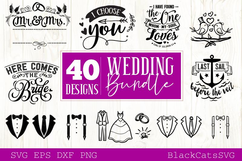 Wedding SVG bundle 40 designs vol 2 example image 4