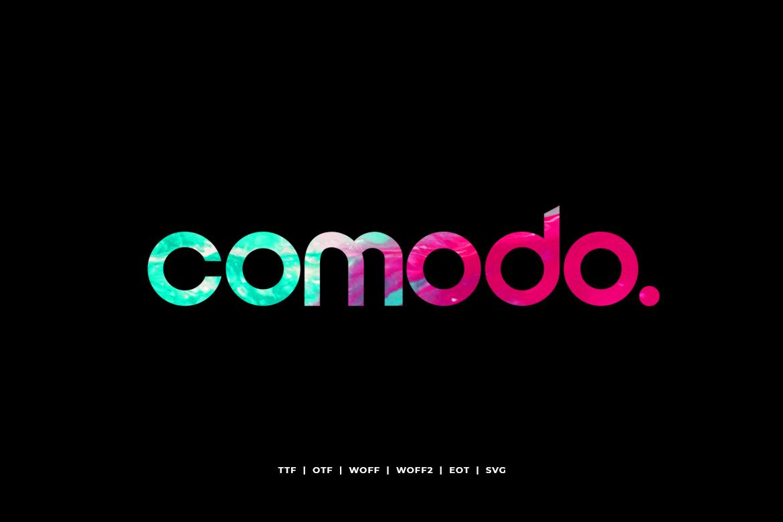 Comodo - Display Typeface WebFonts example image 2