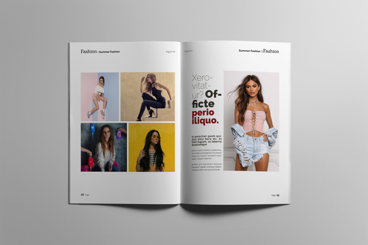 Magazine layout design example image 10