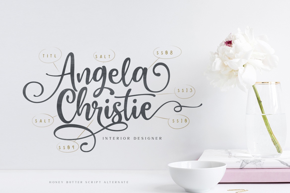 Honey Butter Font Trio & 260 Vectors example image 8