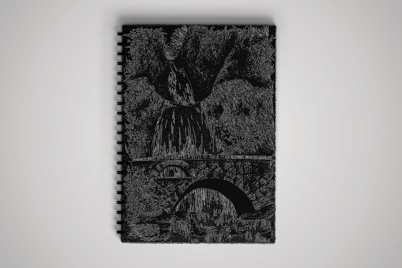 Vintage Waterfall With Bridge example image 2