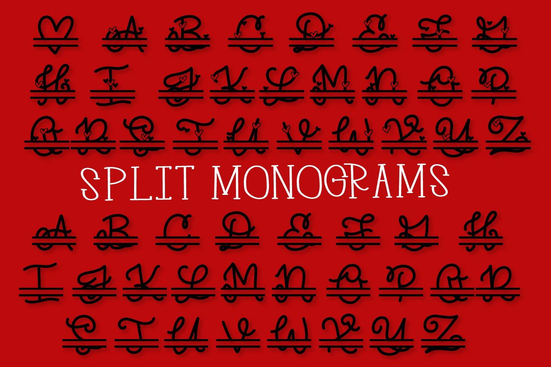 Split Monogram Font Trio - 3 Versions of Monograms! example image 10