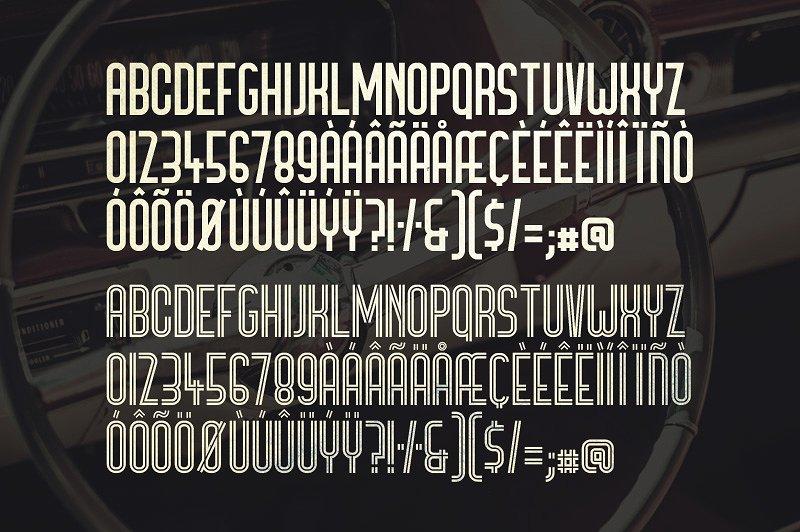 Bronco Typeface example image 5