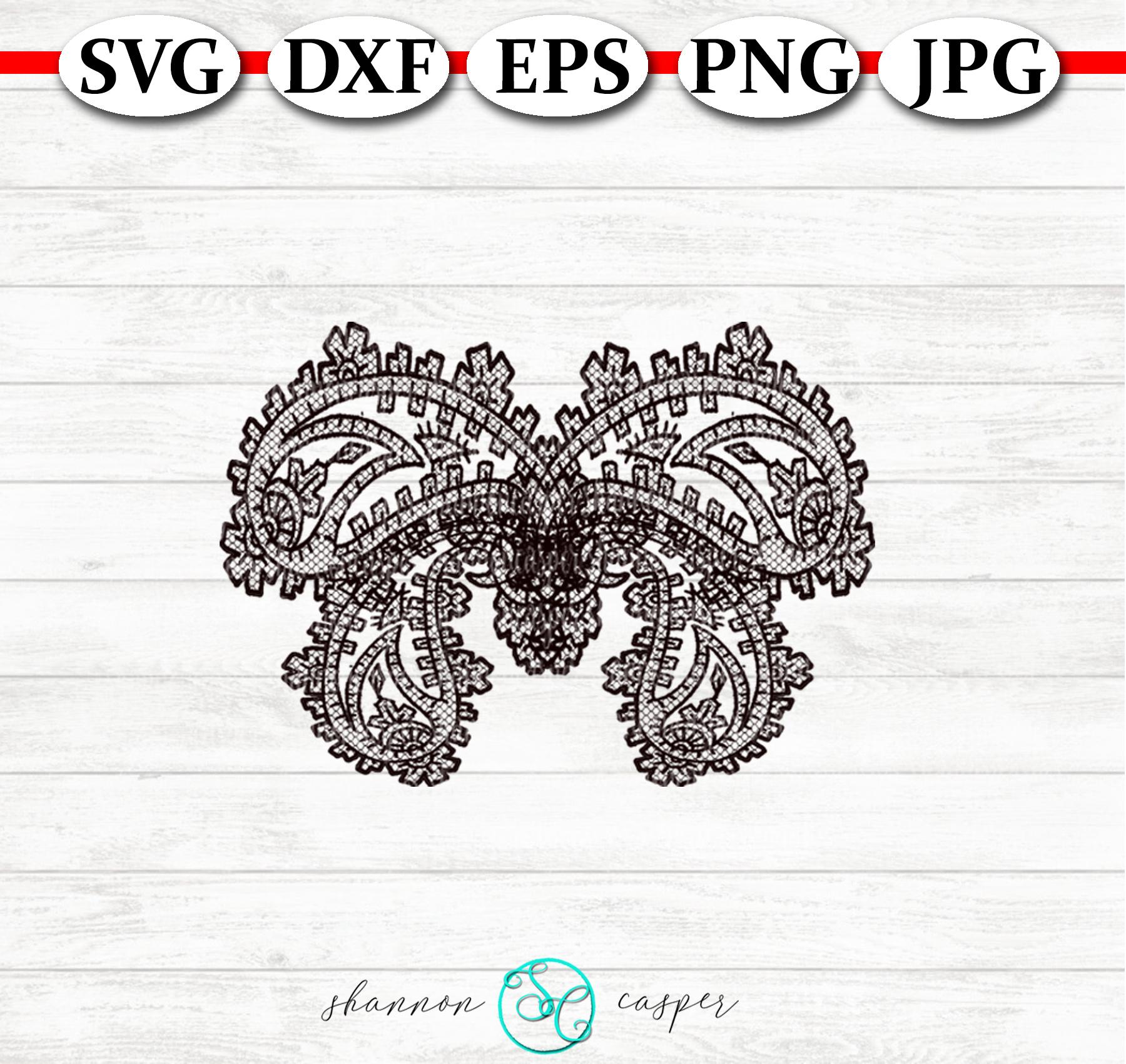 Lace Paisley Butterflies SVG Bunde example image 6