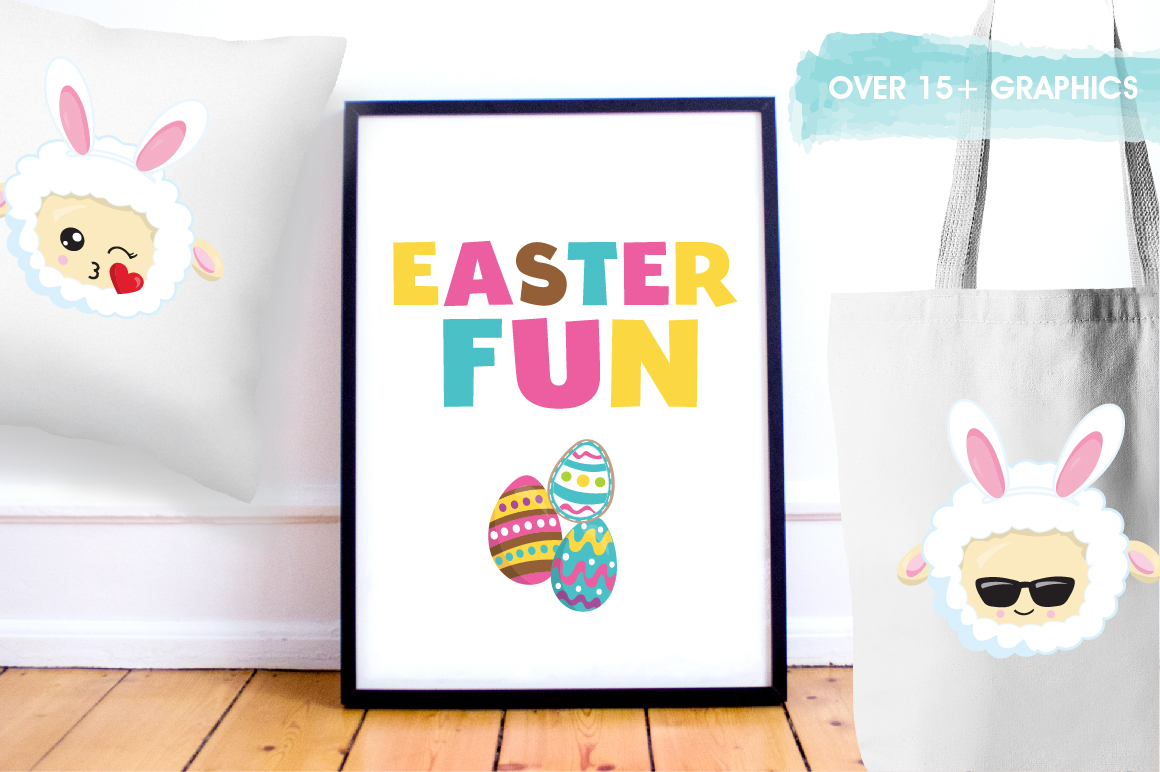 Easter sheep graphics and illustrations example image 5