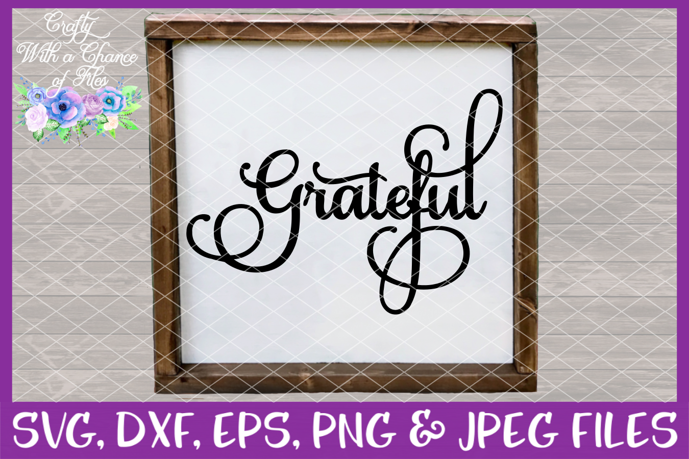 Thankful Grateful Blessed Give Thanks SVG - Thanksgiving example image 4