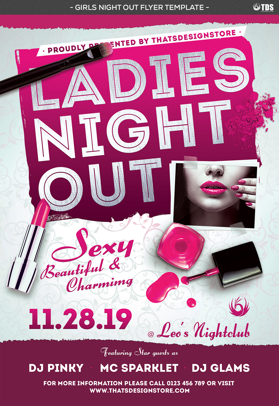 Girls Night Out Flyer Template example image 4