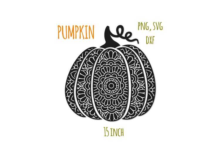 Bohemian scroll pumpkin svg. Fancy pumpkin example image 1