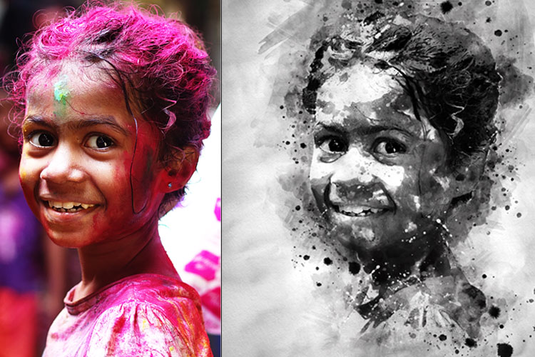 Water-Ink Photoshop Action example image 12