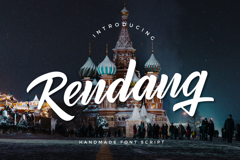 Rendang - Handmade Font example image 1