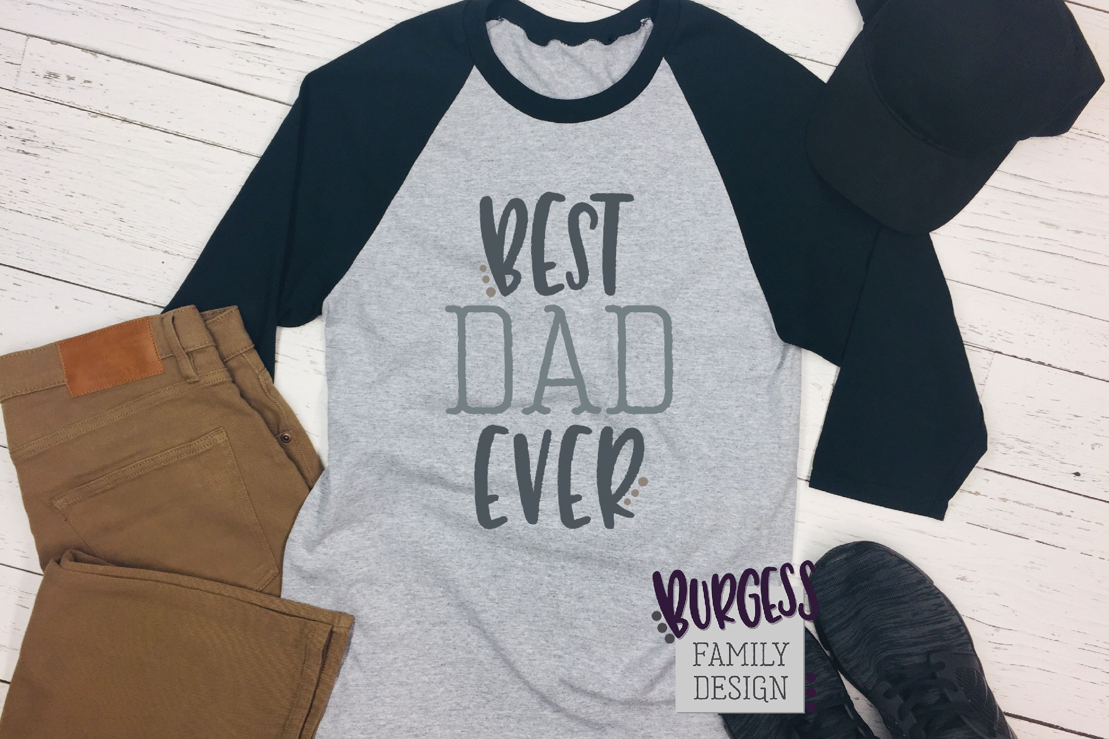 Best dad ever | SVG DXF EPS PNG example image 1