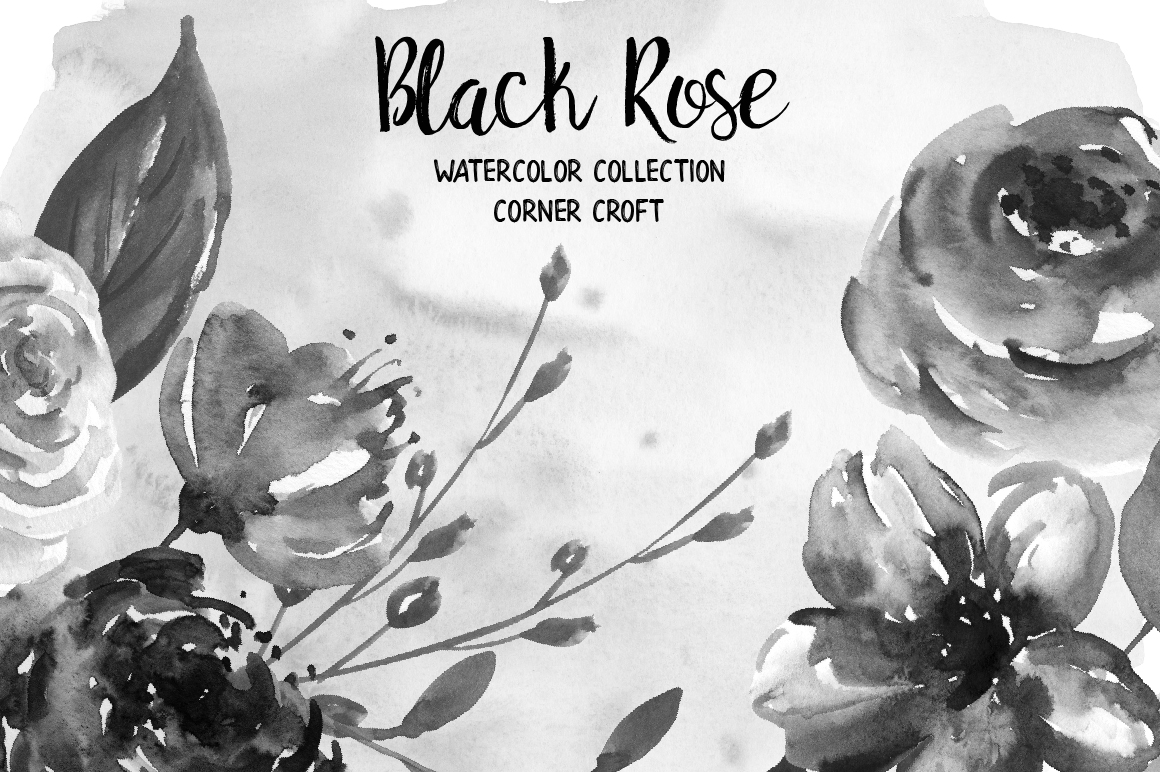 Watercolor Collection Black Rose example image 6
