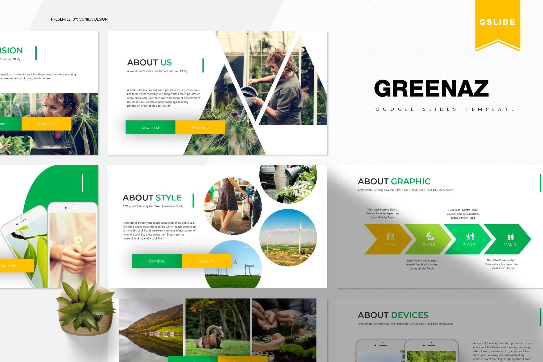 Greenaz | Powerpoint, Keynote, GoogleSlides Template example image 2