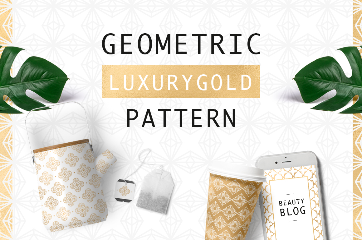 Geometric Luxurygold Pattern example image 1