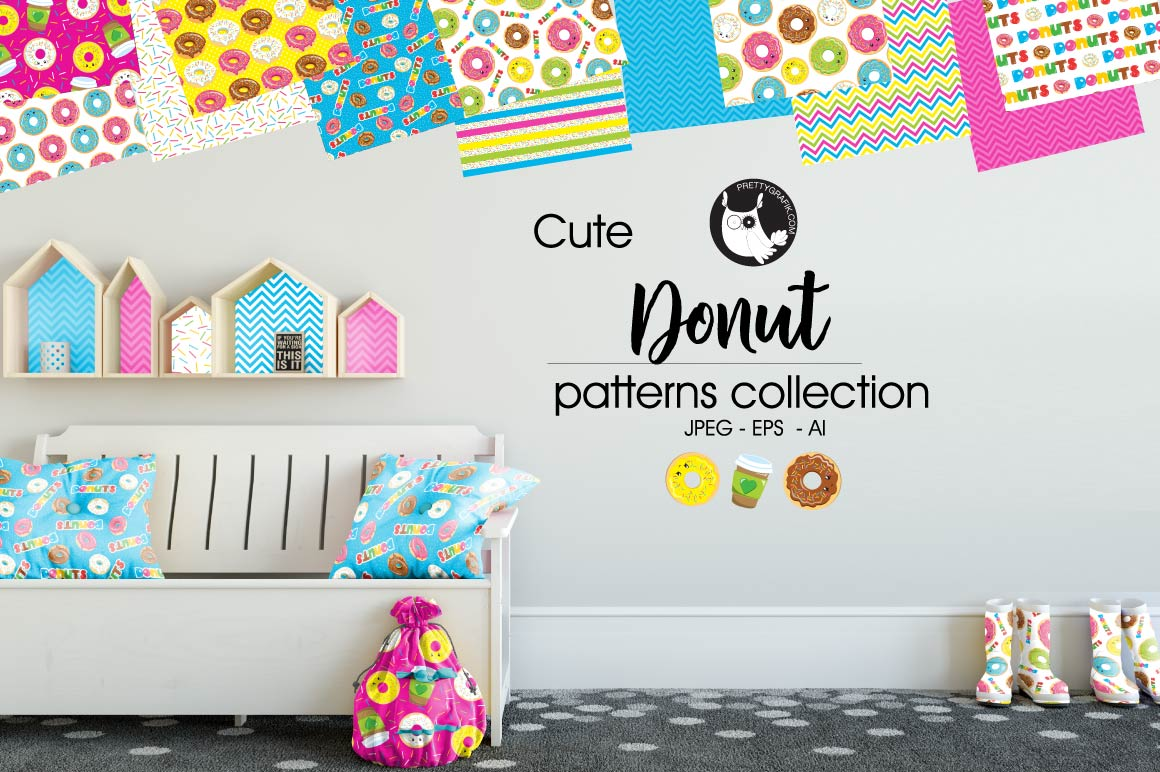Donut, digital papers example image 1