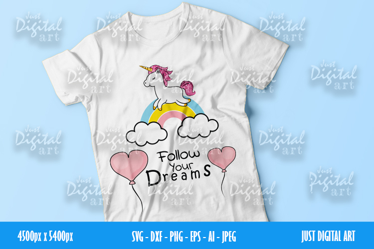 Unicorn SVG | PNG | EPS| Girls Birthday | Digital Download example image 1