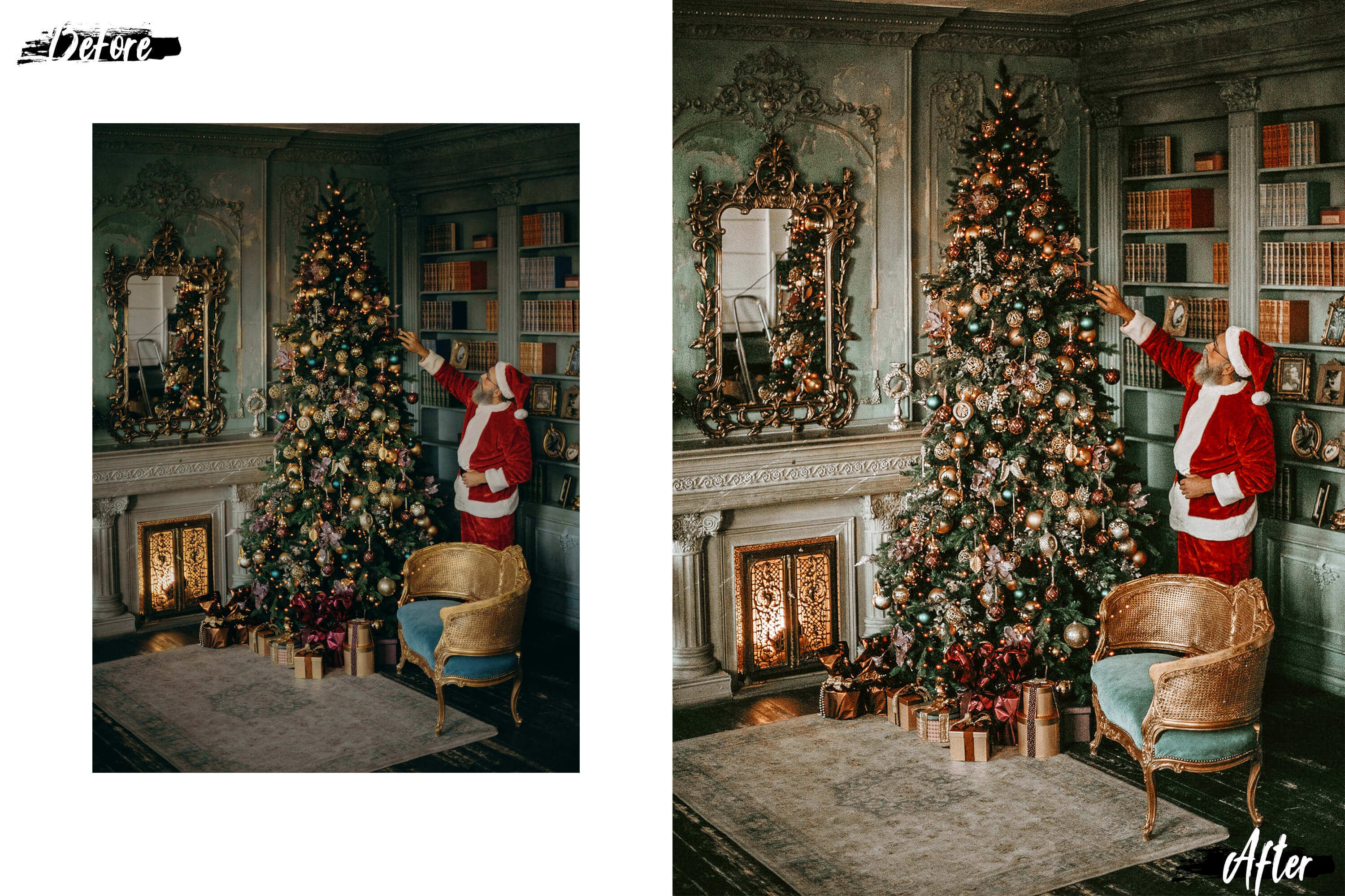 05 Christmas Eve Photoshop Actions, ACR and LUT presets example image 7