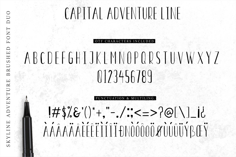 Font Duo Skyline Adventure example image 5