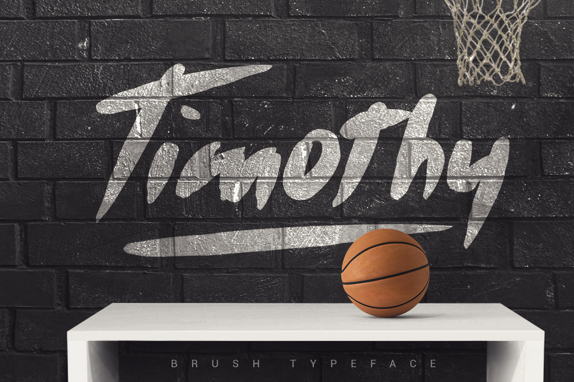 Timothy Brush Typeface example image 1