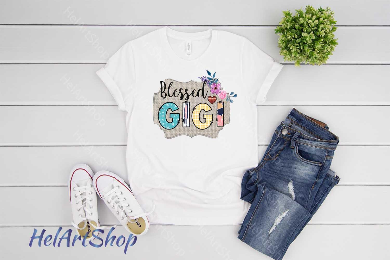 Blessed Gigi Sublimation design png file. example image 2