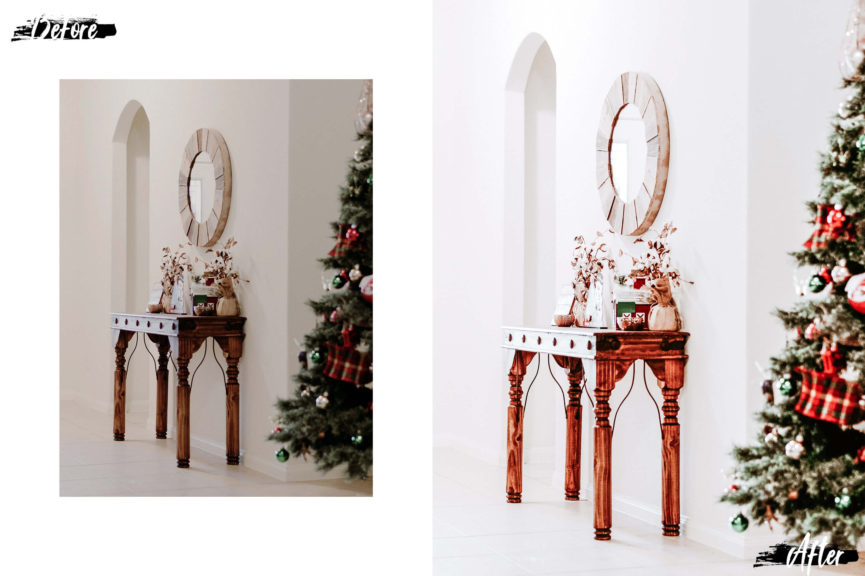 10 Winter Wonderland Mobile Lightroom Presets, Xmas photo example image 7