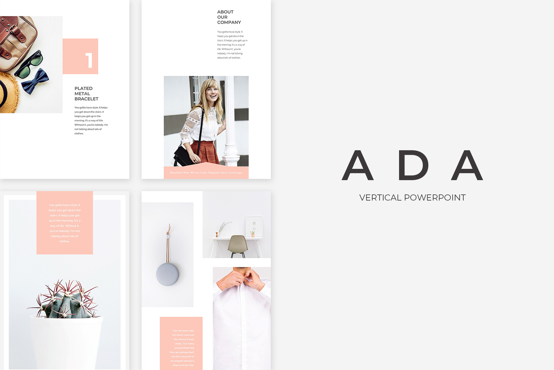 Ada Vertical PowerPoint Presentation Template