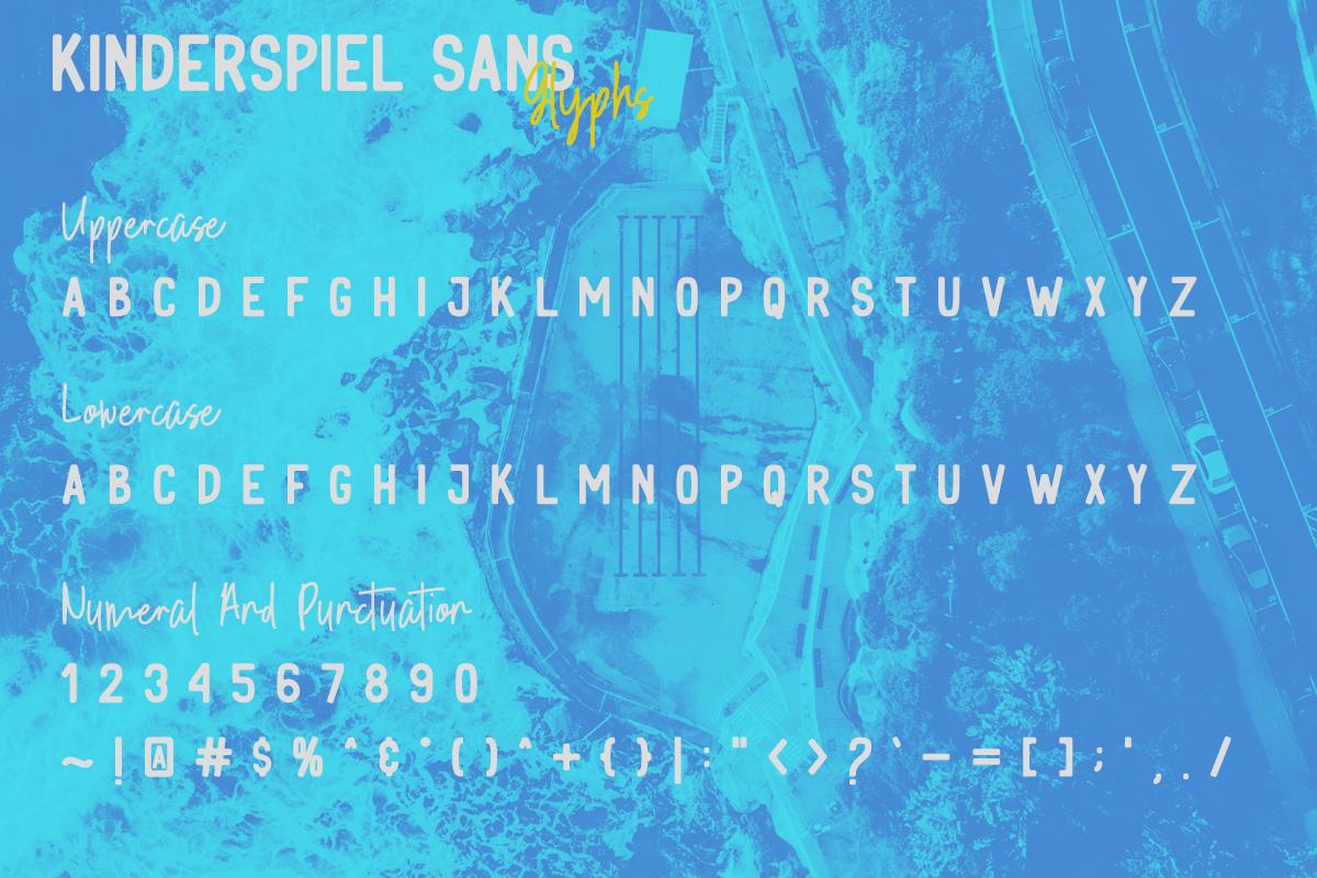 Kinderspiel - Font Duo example image 16